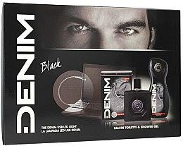 Parfumuri și produse cosmetice Denim Black - Set (edt/100ml + sh/gel/250ml)