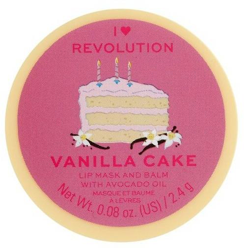 Balsam-mască de buze - I Heart Revolution Vanilla Cake Lip Mask & Balm — Imagine N1