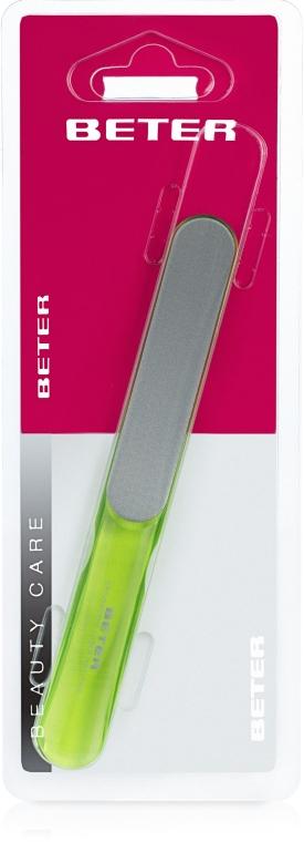 Pilă de unghii cu suprafață laser, ergonomic, verde deschis - Beter Beauty Care — Imagine N1
