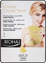 Parfumuri și produse cosmetice Mască de față - Iroha Divine Collection Gold & Collagen