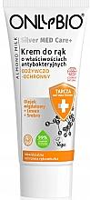Parfumuri și produse cosmetice Cremă hrănitoare protectoare pentru mâini - Only Bio Silver Med Care+ Almont Milk Hand Cream