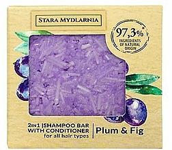 "Parfumuri și produse cosmetice Șampon-balsam solid ""Prună și smochină"" - Stara Mydlarnia Plum & Fig 2in1 Shampoo Bar"