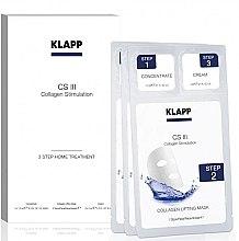 Parfumuri și produse cosmetice Set pentru îngrijirea feței - Klapp CS III Home Treatment (concentrate/3x1,5ml + mask/3buc + cream/3x2ml)