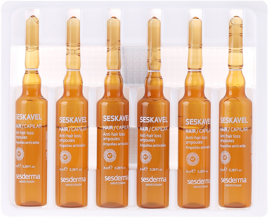 Fiole împotriva căderii părului - SesDerma Laboratories Seskavel Anti-Hair Loss Aampoules — Imagine N2