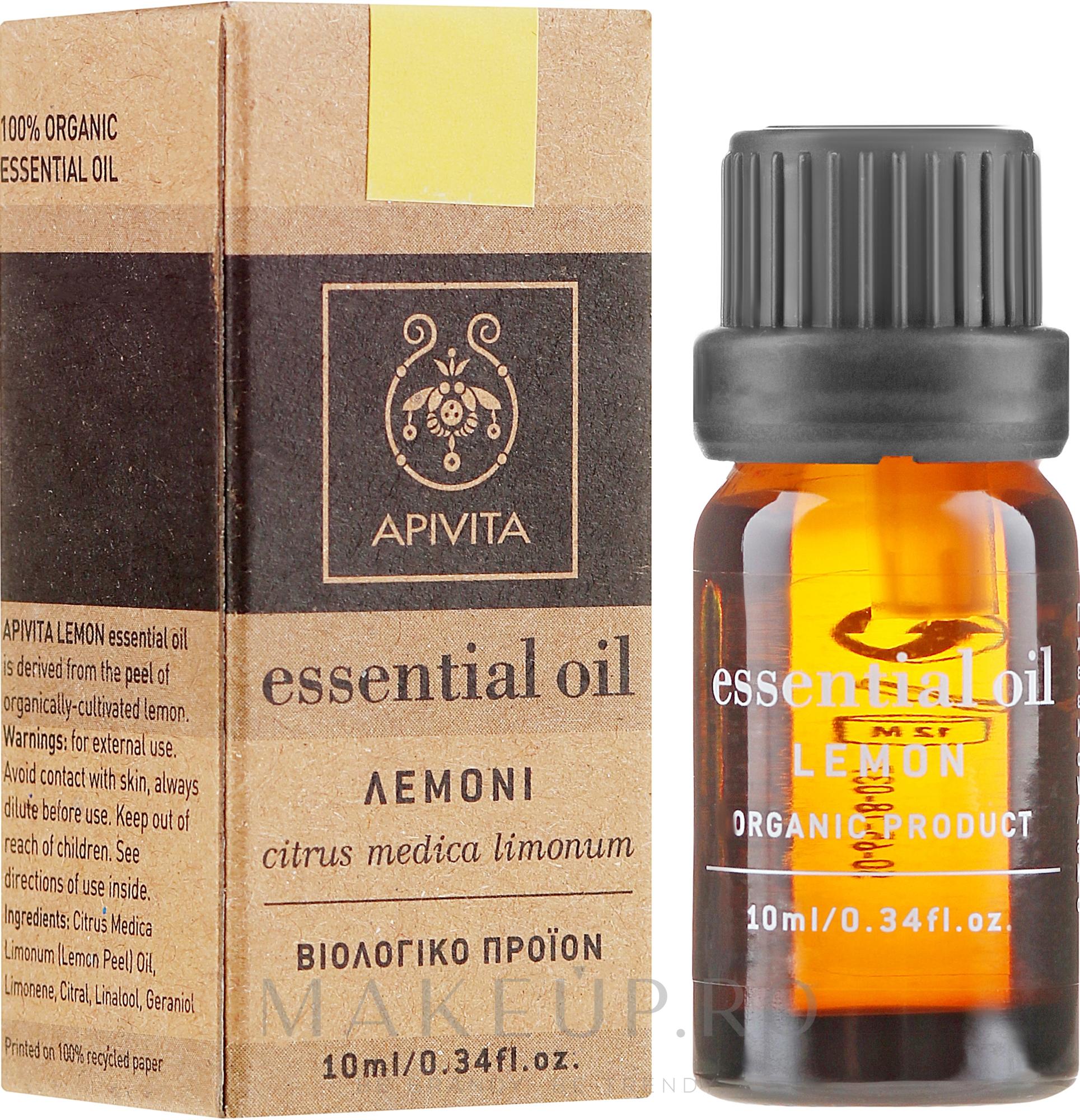 "Ulei esențial ""Lămâie"" - Apivita Aromatherapy Organic Lemon Oil — Imagine 10 ml"