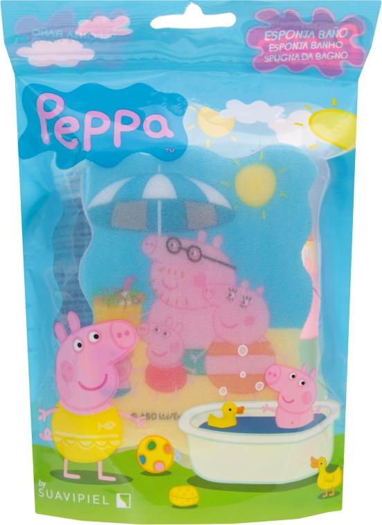 """Burete de baie pentru copii """"Peppa Pig"""", Pig Family - Suavipiel Peppa Pig Bath Sponge — Imagine N1"""