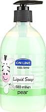 "Parfumuri și produse cosmetice Săpun lichid ""Pere"" - On Line Kids Time Liquid Soap Pear"