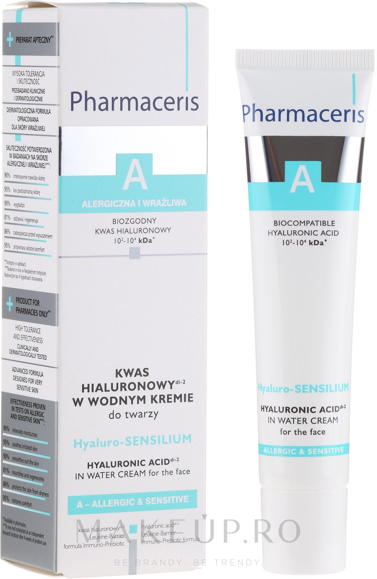 Cremă de față - Pharmaceris A Hyaluro-sensilium — Imagine 40 ml
