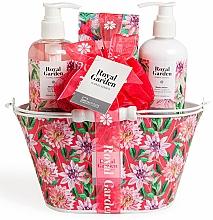 Parfumuri și produse cosmetice Set - IDC Institute Royal Garden (sh/g/250ml+b/lot/250ml+salt/100g+sponge)
