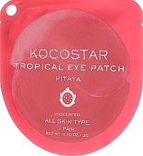 "Parfumuri și produse cosmetice Patch-uri hidrogel sub ochi ""Fructe tropicale, Pitahaya"" - Kocostar Tropical Eye Patch Pitaya"