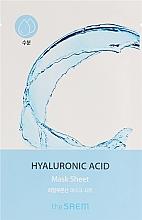 Parfumuri și produse cosmetice Bio-Mască din țesătură pentru față - The Saem Bio Solution Hydrating Hyaluronic Acid Mask Sheet