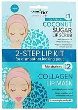 Parfumuri și produse cosmetice Mască-scrub cu cocos pentru buze - Derma V10 2 Step Lip Treatment Kit Coconut