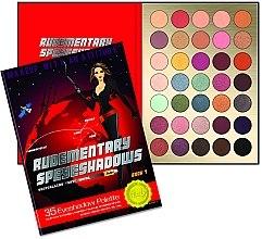 Parfumuri și produse cosmetice Paletă farduri de ochi, 35 nuanțe - Rude Rudementary Speyeshadows