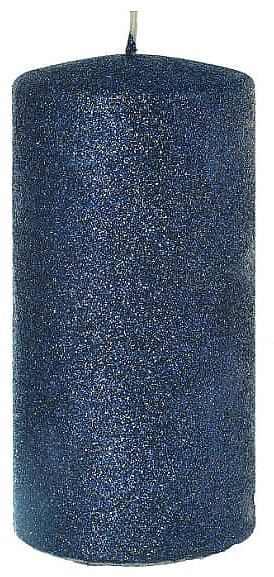 Lumânare decorativă, albastră, 7x14 cm - Artman Glamour — Imagine N1