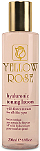 Parfumuri și produse cosmetice Loțiune tonifiantă cu acid hialuronic - Yellow Rose Hyaluronic Toning Lotion