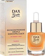 Parfumuri și produse cosmetice Concentrat pentru bronzare - Dax Sun Self-tanning Concentrated Drops