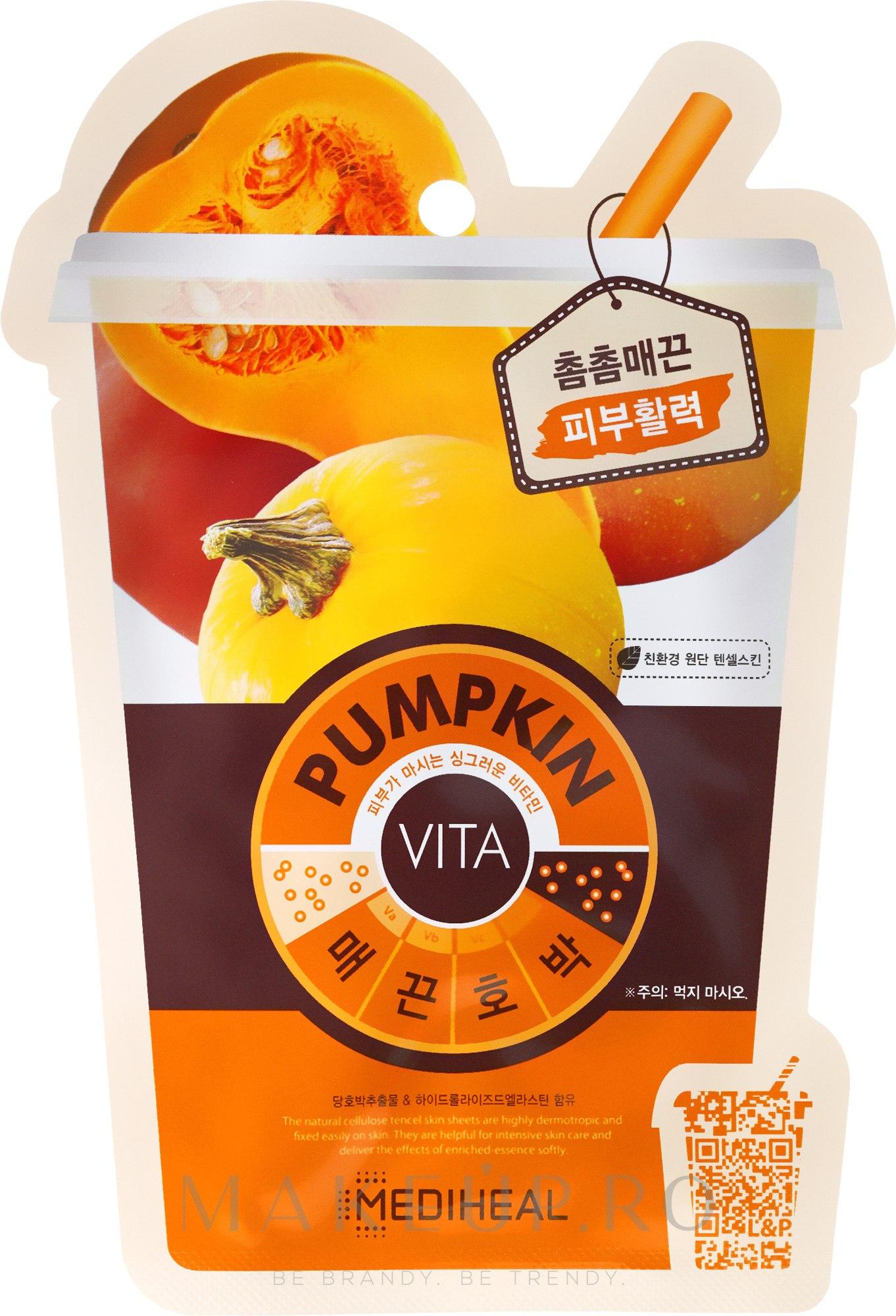 """Mască pentru față """"Dovleac"""" - Mediheal Vita Pumpkin Mask — Imagine 20 ml"""