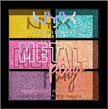 Parfumuri și produse cosmetice Paletă de pigmenți pentru pleoape, față și corp - NYX Professional Makeup Metal Play Pressed Pigment Palette