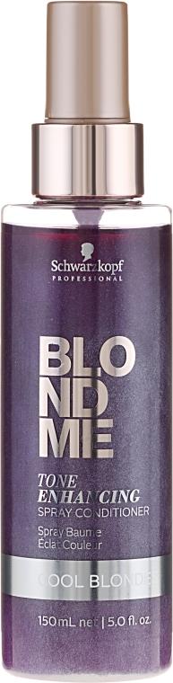 Balsam pentru nuanțe reci de blond - Schwarzkopf Professional BlondMe Color Correction Spray Conditioner Cool Ice — Imagine N1