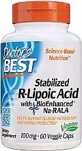 Parfumuri și produse cosmetice Acid R-lipoic stabilizat, 100 mg, capsule - Doctor's Best