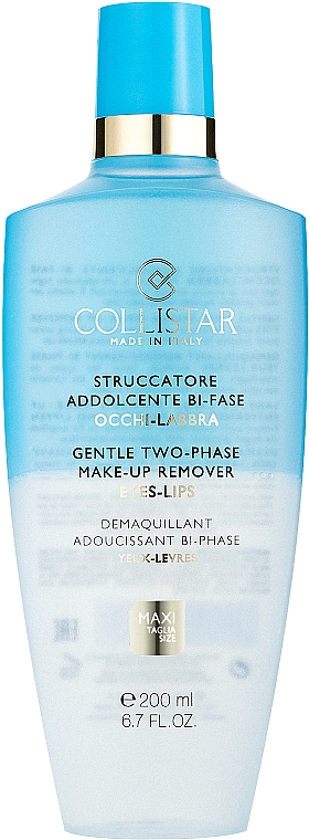 Demachiant pentru Ochi și Buze - Collistar Gentle Two-Phase Make-Up Remover — Imagine N1