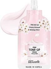 Parfumuri și produse cosmetice Cremă revigorantă cu extract de flori albe pentru față - Beausta Pink Tone-Up Cream