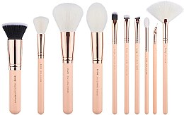 Parfumuri și produse cosmetice Set pensule pentru machiaj, T450, 10buc - Jessup