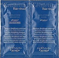 Parfumuri și produse cosmetice Set mostre pentru regenerarea părului deteriorat - Fanola Keraterm (shmp/15ml + mask/15ml)