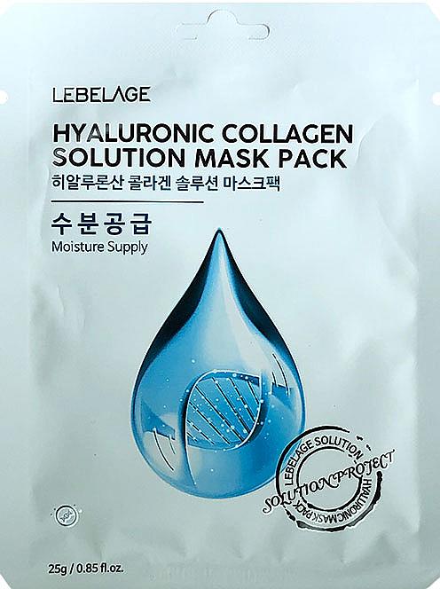 Mască din țesătură pentru față - Lebelage Hyaluronic Collagen Solution Mask