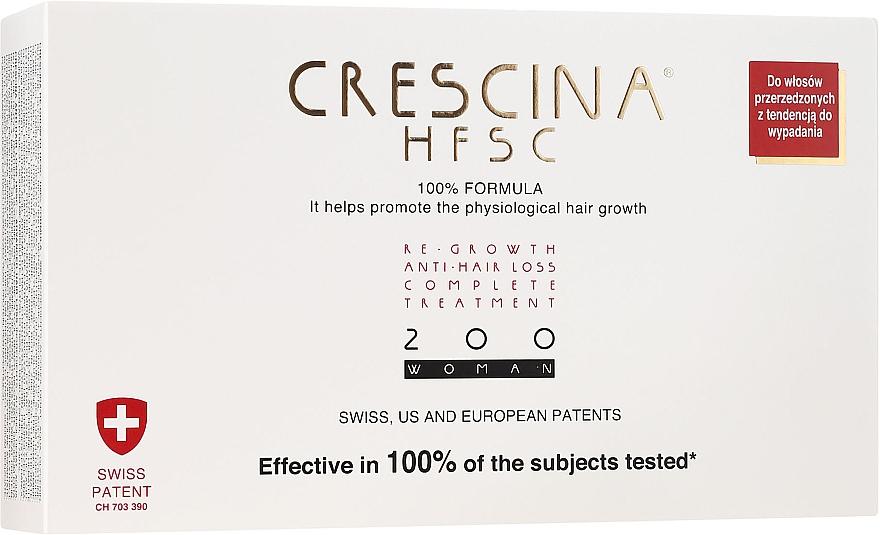 Tratament împotriva căderii părului, pentru femei, 200 - Crescina Re-Growth HFSC Formula 100%