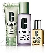 Parfumuri și produse cosmetice Set - Clinique 3-Step System Type II (soap/50ml + lot/100ml + lot/30ml)
