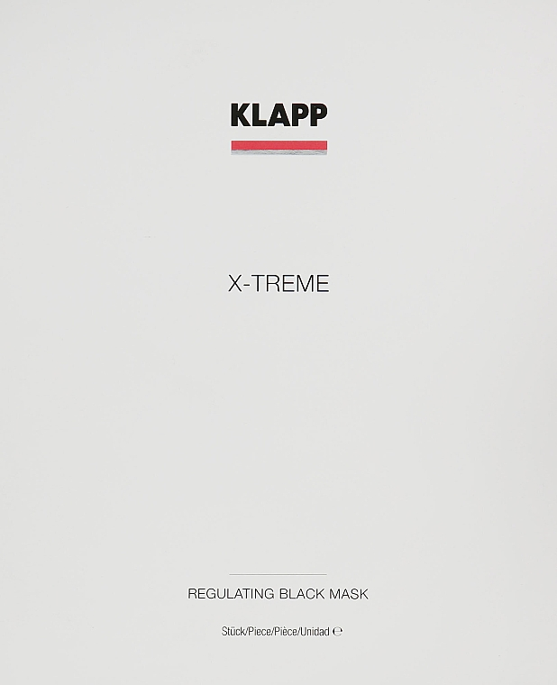 Set - Klapp X-Treme Regulating Black Mask (mask/5x25ml) — Imagine N1