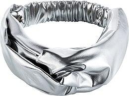 "Parfumuri și produse cosmetice Bentiță din tricotaj, argintie ""Knit Fashion Twist"" - MakeUp Hair Accessories"