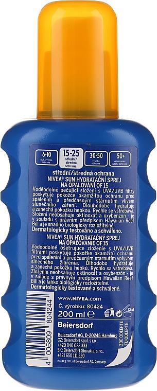 Spray de protecție solară SPF15 - Nivea Sun Care Spray Solare Inratante — Imagine N2