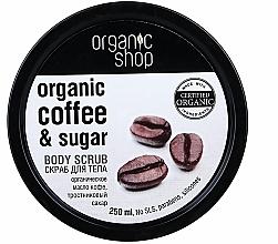 """Parfumuri și produse cosmetice Scrub pentru corp """"Cafea braziliană"""" - Organic Shop Body Scrub Organic Coffee & Sugar"""