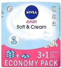 """Parfumuri și produse cosmetice Șervețele umede """"Pentru copii"""" 4x63buc - Nivea Baby Soft & Cream"""