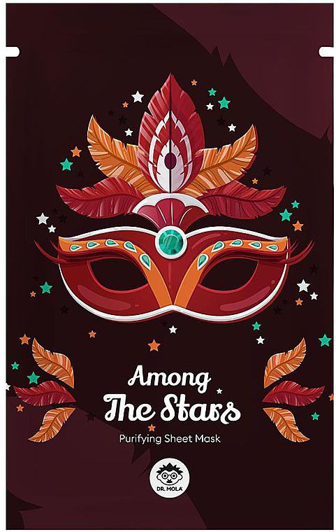 Mască din țesătură pentru față - Dr Mola Among The Stars Purifying Mask — Imagine N1