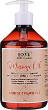 Parfumuri și produse cosmetice Ulei de masaj - Eco U Massage Oil Sweet Apricot & Peach Oil