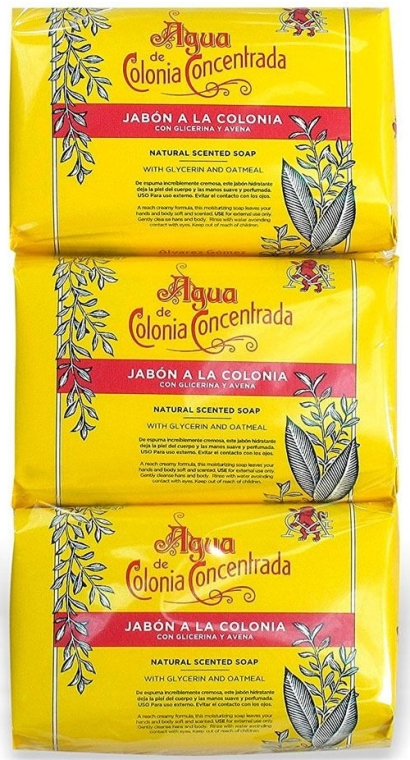 Alvarez Gomez Agua De Colonia Concentrada - Set (soap/3x125g) — Imagine N1