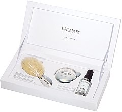 Set - Balmain Paris Hair Couture Silver Brush Set Mini (h/counture/50ml+brush+mirror) — Imagine N2