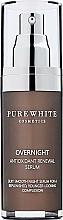 Parfumuri și produse cosmetice Ser facial de noapte - Pure White Cosmetics Overnight Antioxidant Renewal Serum