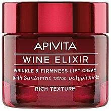 Parfumuri și produse cosmetice Cremă-lifting antirid cu polifenoli de Vin Santorini - Apivita Wine Elixir Wrinkle And Firmness Lift Cream Rich Texture