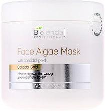 Parfumuri și produse cosmetice Mască hidratantă cu alge și aur coloidal pentru față - Bielenda Professional Face Algae Mask