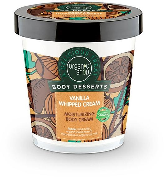 """Cremă hidratantă pentru corp """"Vanilie și frișcă"""" - Organic Shop Body Desserts Vanilla Whipped Cream"""