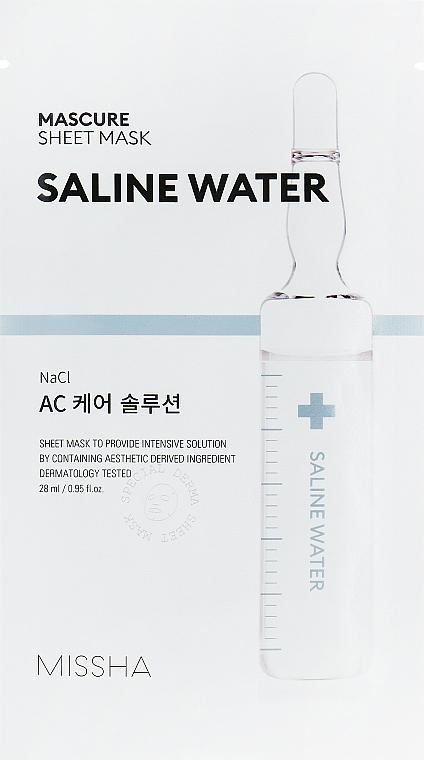 Mască hidratantă cu apă sărată pentru față - Missha Mascure AC Care Solution Sheet Mask Saline Water — Imagine N1