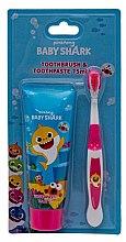 Parfumuri și produse cosmetice Set - Pinkfong Baby Shark (tpst/75ml + tbrsh/1bucată)