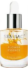 Parfumuri și produse cosmetice Ulei din semințe de piersici pentru unghii și cuticule - Semilac Flower Essence Orange Strength