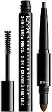 Parfumuri și produse cosmetice Creion multifuncțional pentru sprâncene - NYX Professional Makeup Cosmetics 3-in1 Brow Pencil