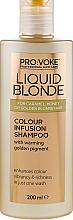 Parfumuri și produse cosmetice Șampon pentru îmbunătățirea culorii părului - Pro:Voke Liquid Blonde Colour Infusion Shampoo