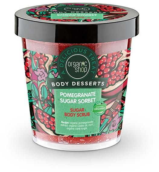 Scrub pentru corp, cu extract de rodie - Body Desserts Pomegranate Sugar Sorbet Sugar Body Scrub